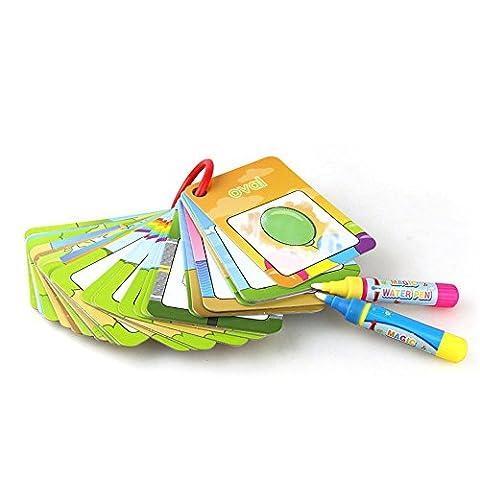 DAYLIN 26PCS Digital Card Magic Water Painting Card Drawing Pattern