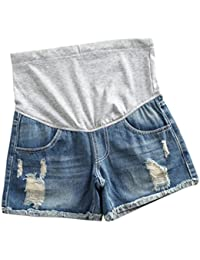 Yying Pantalones Cortos De Los Pantalones Cortos De Maternidad De Las Mujeres Casuales con Los Pantalones Cortos De Los Pantalones Vaqueros del Vientre De La Previsión