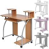 TecTake Mesa de ordenador de escritorio juvenil estudiante PC trabajo muebles - disponible en diferentes colores - (Haya | No. 401063)