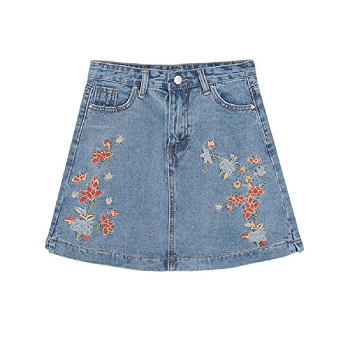 XJoel Hot Cow Boy Damen Minirock Style Shorts Hosen Hosen Blue (Pudel Erwachsene Größe Rock Plus)