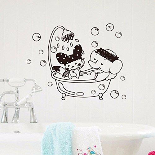 Elefanten Pj (Badezimmer-TŸr-Wand-WC-Sitz Deckel Aufkleber Removable Elefant DIY Aufkleber Hauptdekor)