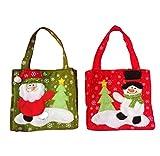Leisial 2 Stücke Weihnachten Handtasche Kreatives Weihnachten Geschenktüte Weihnachtsbeutel Weihnachten Süßigkeiten 28*17CM