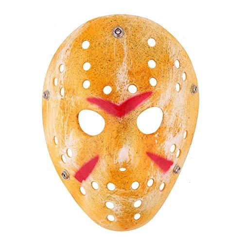 Ndier Halloween Jason Maske Goldweinlese Jason Voorhees Freddy Hockey Festival Halloween-Maskerade-Partei-Schablone