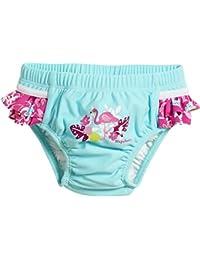 Playshoes Baby-Mädchen Schwimmwindel Uv-Schutz Windelhose Flamingo