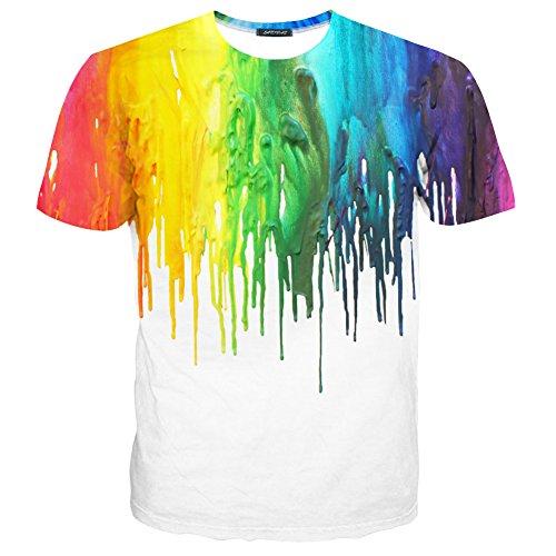 LAIDIPAS Unisex 3D Muster Gedruckte Beiläufige Kurze Hülsen-T-Shirts T-Stücke Style 27