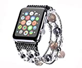 Kaing Compatible Bands Apple Watch Band 38 mm/42 mm iWatch Band Femme Tendance Fausse...