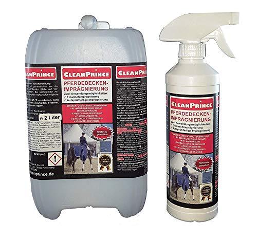 2,5 Liter CleanPrince Pferdedeckenimprägnierung Pferdedecke Imprägnierung Wetterschutz Imprägniermittel Fleckschutz -