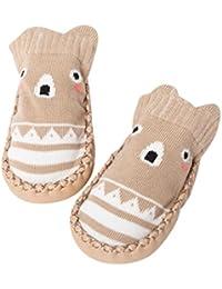 cced71253 K-youth® Invierno Bebé Niñas Niños Indoor Zapatillas Piso Calcetines Patrón  De Dibujos Animados Calcetines Zapatos…