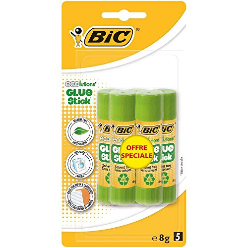bic-ecolutions-tube-de-colle-8-gr-couleurs-assorties-blister-de-5