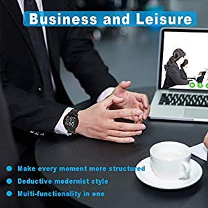 Reloj Inteligente, LIFEBEE Smartwatch Hombre Mujer Pulsera Actividad Inteligente Impermeable 1.3 Pulgadas Pantalla Color Pulsera Podómetro con Pulsómetro, Monitor de Calorías, Sueño para Android y iOS