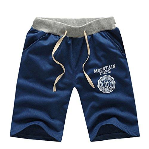 Honghu Pantaloni da Jogging da Uomo sportivi Casual Palestra Sport Hip-Hop Sarouel danza Pantaloni in esecuzione Navy blue