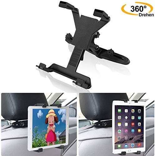Tablet Halterung Auto, MoFut Tablet Halter Kopfstütze, Ausziehbare Kopfstützenhalterung 360 Grad Drehung Für iPad 2/3/4/Mini/Air, Samsung Galaxy Tab, Tragbare DVD-Player und 7-12 Zoll Tablets