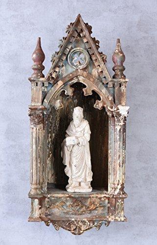 PALAZZO INT Hausaltar Heiligenfigur Sakral Altar Antik Wandaltar Gotik Schrein Heiliger Palazzo...