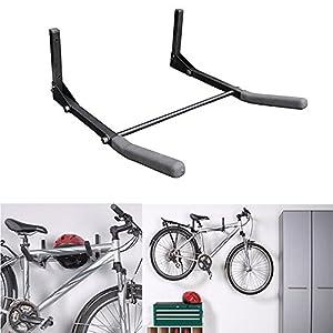 Soporte de suspensión de almacenaje para bicicletas, montaje en pared para bicicleta, soporte del gancho de la suspensión del estante de almacenaje, 30 kg de capacidad de peso, plegable