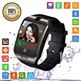 Smartwatch, FENHOO SN06 Smart Watch Phone con SIM Card Slot Camera Touch Screen Orologio Intelligente Cellulare per Android Samsung Huawei Xiaomi ios iphone 11 X 8 7 6 6s 5 Uomo Donna Bambini (Nero)