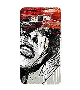 Abstract Girl 3D Hard Polycarbonate Designer Back Case Cover for Samsung Galaxy On5 :: Samsung Galaxy On 5 G550FY