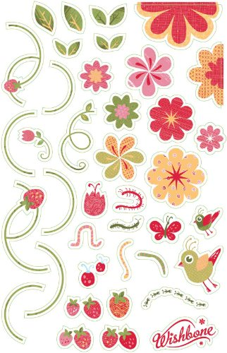 Wishbone Pegatinas - Flores - Colorido Pegatinas para Wishbone Bike Niños