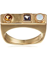 Lizzie Fortunato vergoldet Mosaik-Ring-Größe N