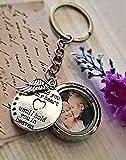 Memorial medallón de foto llavero - Regalo conmemorativo Regalo de condolencia Regalo de duelo por pérdida Abuela Abuelo Madre Padre