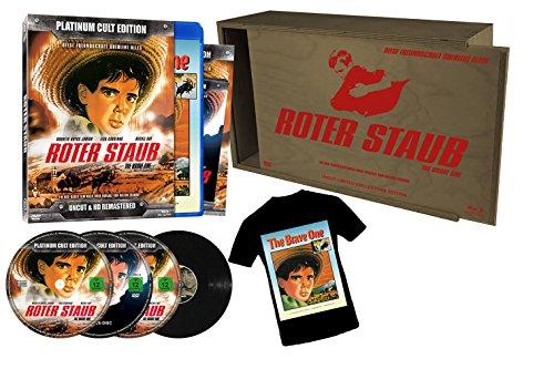 Roter Staub - Sonderedition in Holzbox - limitierte Auflage von 500 Stück!! (4er-Disc Edition: Blu-Ray + 2 DVDs + Audio-CD + T-Shirt einseitig bedruckt) [Limited Edition] (T-shirts Abenteuer-film)