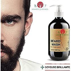B.O.T Cosmetic & Wellness - Beard Wash Champú para Barba con Arbol de Té 250 ml