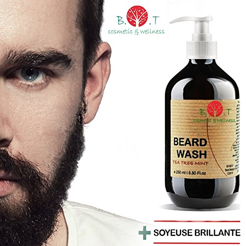 Tea Tree & Mint Beard Wash 250 ml Bartwäsche Bartshampoo