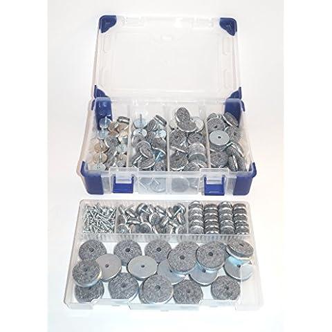 Preisfiffi anelli per Ferro in feltro aliante in pratico e di alta qualità box Vasto assortimento 141pezzi