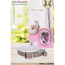 takestop Collar Repelente Margosa Natural 36 cm Reflectante para Perros Perro Gatos Gato Anti garrapatas Insectos