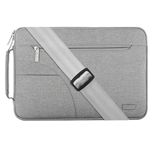 MOSISO Épaule Laptop Cover Sleeve Sac, Polyester Porte-documents Carry Case Sac à main pour 13 - 13,3 pouces MacBook Air, MacBook Pro, ordinateur portable, Gris