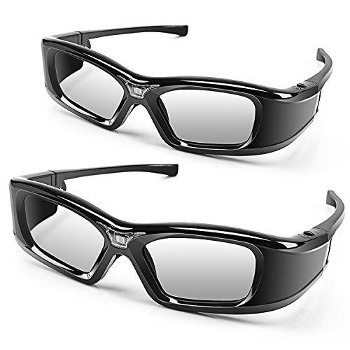 APEMAN 3D Brille DLP Glasses Series Re-chargeable 3D VR Brillen Virtuelle Realit?t Hohe-Brightness/Hohe-Contrast kompatibel mit allen DLP-3D-Projektoren ...