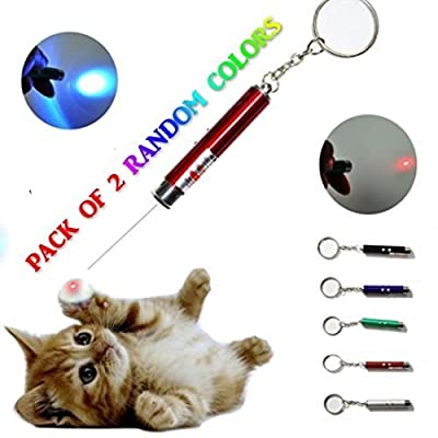 maziPET Cat Pointer Interactive Toy LED Light pets training exercises For Cats and Kitten (pack of 2)