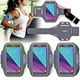 GBOS Samsung Galaxy J7 (2017) Armband, Pink Super Thin, Sweat-Free, Gym, Running, Jogging, Walking, Hiking, Workout and Exercise Sport Armband For with Extra Adjustable-Length Extention Band & Key Slot