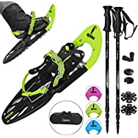 ALPIDEX Snowshoes 25 INCH including carrying bag - available with or without poles