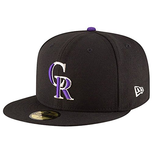 New Era 59Fifty Cap - AUTHENTIC Colorado Rockies noir