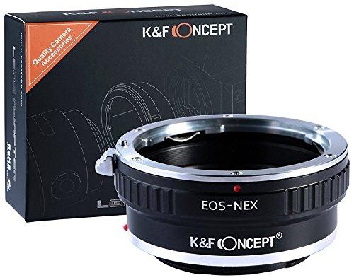 Objektivadapter kompatibel mit Sony NEX Alpha E-Mount Adapter | Adapterring Kamera Ring Objektiv Canon-EF Canon EOS EF ()