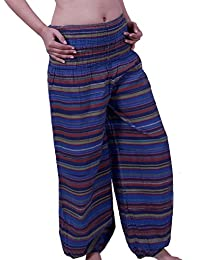 Fairtrend Blue & Stripe Cotton Harem Pants