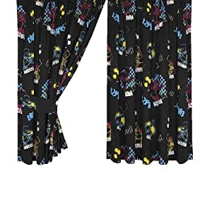 Character World Simpsons Bart Funk Curtains with Tie Backs, 72 Inch