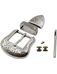 """TOME 1-1 / 2 """"occidental vaquero cinturón hebillas de plata antigua grabado cinturón hebilla conjunto 38MM"""