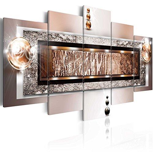 Cuadro 200x100 cm   3 tres colores a elegir   5 Partes   Formato Grande   Impresion en calidad fotografica   Cuadro en lienzo tejido no tejido   abstracci�n 020101 216 200x100 cm B&D XXL
