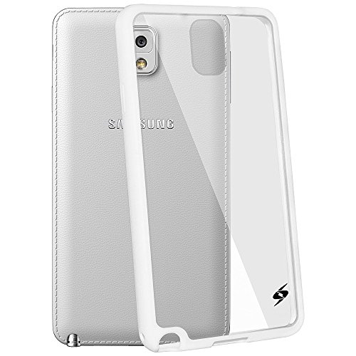 Amzer 96736 Slim Grip Hybrid Case for Samsung GALAXY Note 3 SM-N9000/SM-N9005/SM-N900 (White)  available at amazon for Rs.799