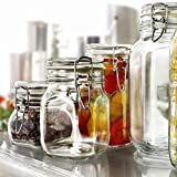 Rocco Bormioli Vase Glass Preserving Terrine Jar 500ml Airtight Model Pack of 6