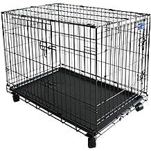 Simply Maison | Jaula para perros | Caja de transporte | Jaula de alambre con 2puertas, ruedas y asa (ruedas a partir de tamaño S)