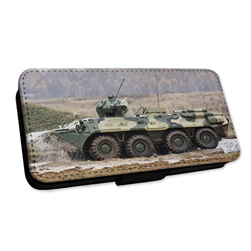 Army Tank – Miltary Weapon Defense – Flip cover in pelle cover Apple iPhone 4/4S