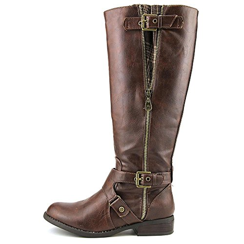 G by Guess Hertle 2 Weit Kalb Round Toe Synthetic Kniehohe Stiefel Dark Brown WC