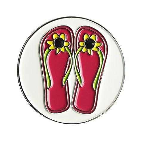 Lot de 10marqueurs de balles de golf, différents motifs, Girls Summer Sandal Ball Marker, 24.4mm
