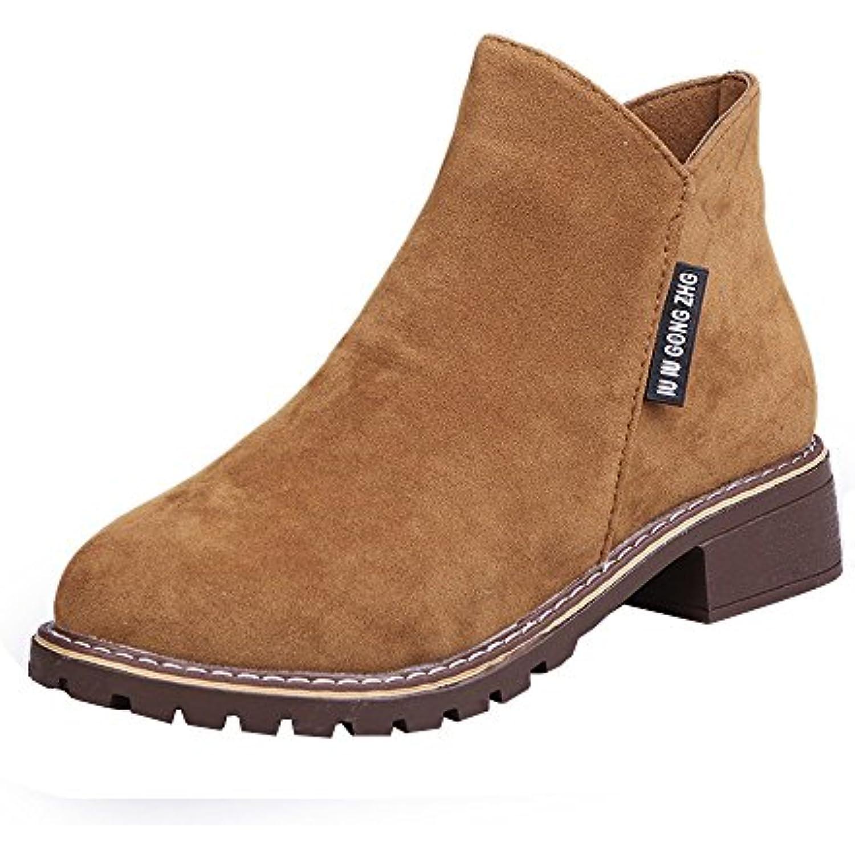 Chaussures Bottes Cuir/Bottines Femme Sonnena Automne Hiver/Bottines Courtes Cuir/Bottines Bottes Plates Fourrées/Boots Chaussures... - B07GYSQ1R6 - 10c006
