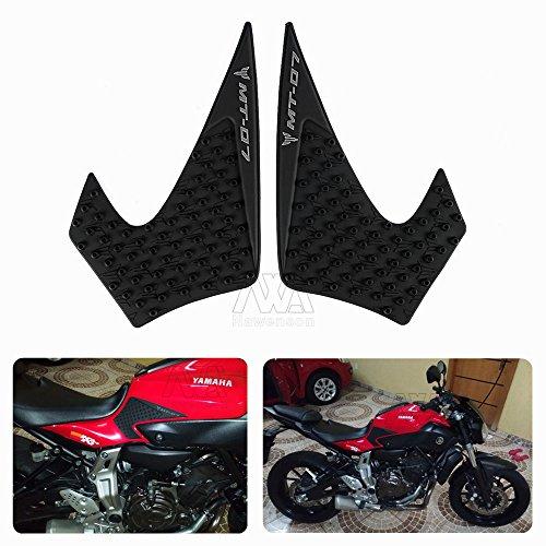 r Motorrad Tank Traction Pad Schutz Aufkleber 3 M Seite Displayschutzfolie für Yamaha MT-07 2014-2015 (Motorrad Tank Pads)