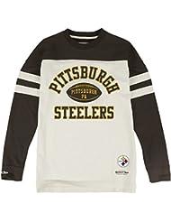 "Pittsburgh Steelers Mitchell & Ness NFL ""Swing Pass"" Men's Heavyweight L/S Shirt Chemise"