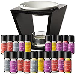 Duftöl Set mit Duftlampe - Top 20 - 20x feiner Raumduft - Aromaöl für Duftlampe und Diffuser von miaono