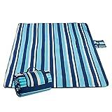 Sable Picknickdecke, Campingdecke Outdoor-Unterlage 200 x 200 cm, Wasserdichte Stranddecke mit extrabreitem Griff für Reisen, Wandern, Camping